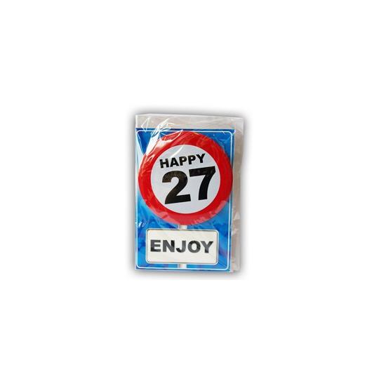 Verjaardagskaart 27 jaar