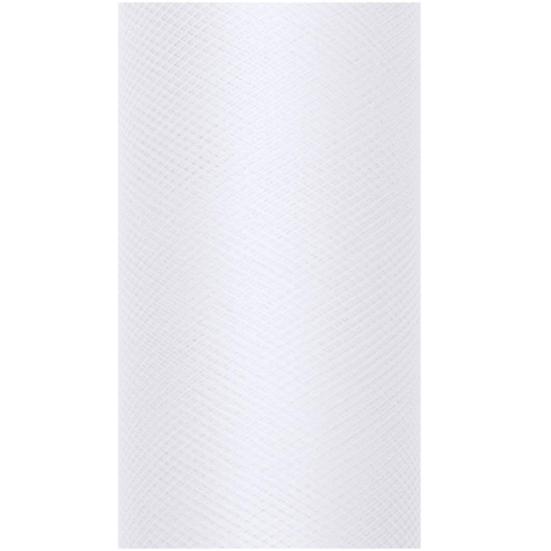 Witte tule stoffen 15 cm breed